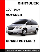 Chrysler Voyager  & Grand Voyager 2001   2007 Factory Service Workshop Manual - $14.95