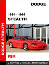 DODGE STEALTH 1994 - 1996 FACTORY OEM SERVICE REPAIR WORKSHOP MAINTENANC... - $14.95