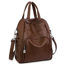 UTO Women Backpack Purse PU Washed Leather Convertible Ladies Rucksack (... - $57.27