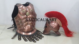 Medieval copper muscle armour wearable spartan set halloween costume - $179.00