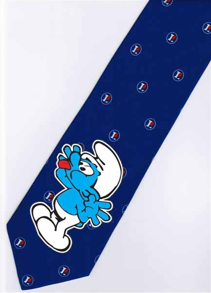 The Smurfs BLUE Cartoon Novelty Fancy Neck Tie