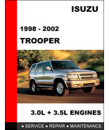 ISUZU TROOPER 1998 1999 2000 2001 2002  FACTORY SERVICE REPAIR WORKSHOP ... - $14.95