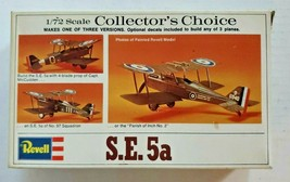 Vintage 1974 REVELL S.E.5a British Biplane Collectors Choice 1/72 SCALE ... - $29.99