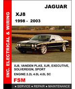 JAGUAR XJ XJ8 XJR 1998 1999 2000 2001 2002 2003 FACTORY REPAIR SERVICE M... - $14.95