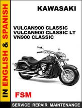 Kawasaki Vn900 Vulcan900 Classic Vulcan900 Classic Lt Factory Oem Repair Manual - $14.95