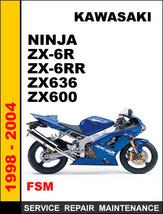 Kawasaki Zx600 Ninja Zx6 R Zx6 Rr Zx636 Factory Service Repair Maintenance Manual - $14.95