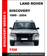 LAND ROVER DISCOVERY 2 1999 - 2004 FACTORY SERVICE REPAIR WORKSHOP SHOP ... - $14.95