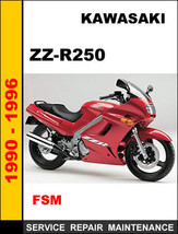 Kawasaki Zzr250 Factory Oem Service Repair Maintenance Workshop Manual - $14.95