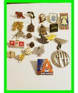 LARGE LOT Vintage Mixed Enamel Pin & Lapel Pin ~ Junk Drawer Olympics, A... - $16.97