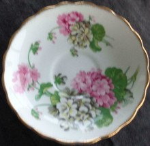 Vintage Rosina Bone China Saucer - VGC - England - BEAUTIFUL FLORAL PATTERN - $11.87