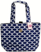 Macbeth Ivy Boho Tote Bag; 15 x 14.25 x 5 Inches; Blue and White; 77039 - $29.69