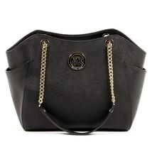 Black ONE SIZE Michael Kors Womens Handbag JET SET TRAVEL 35T5GTVT3L BLACK - $340.27