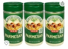 H-E-B Parmesan Cheese 3 Pack.  Grated 8oz Bundle.  - $29.67