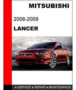 MITSUBISHI LANCER 2008 - 2009 FACTORY SERVICE REPAIR MAINTENANCE WORKSHO... - $14.95