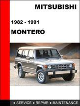 Mitsubishi Pajero Montero 1982 1991 Factory Service Repair Maintenance Manual - $14.95