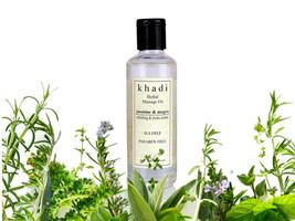 New Khadi Jasmine Massage Oil Herbal Product Natural Goodness (210ml) - $19.00+