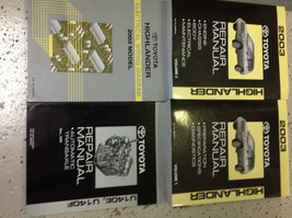 2003 Toyota Highlander Suv Truck Service Shop Repair Manual Set W Ewd + Trans Bk - $395.99
