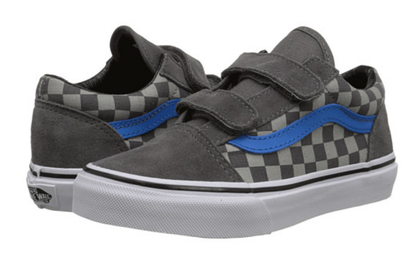 Vans Old Skool V Size 2.5 M (Y) EU 33 Youth Boy's Shoes Checkered Gray VN0XGGGFX