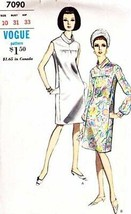 Vintage 1960's Misses' DRESS Vogue Pattern 7090 Size 10 - $10.00