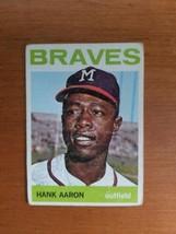 1964 Topps #300 Hank Aaron Hof Braves No Crease - $34.65