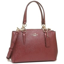 COACH F23337 MINI CHRISTIE CARRYALL CROSSGRAIN LEATHER Handbag Metallic ... - £108.57 GBP