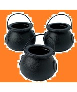 Small Black Candy Cauldron Buckets (12 Count) - $6.99