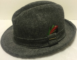 "Vintage Stetson Fedora Wool Felt Hat Size 7 Medium 22"" (55.88cm) Clip Fe... - $168.29"
