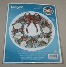 Janlynn Christmas Traditions Wreath Picture Counted Cross Stitch Kit 021... - $20.74
