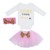 3pcs Summer Baby Kids Girls Clothes HOME Printing Sleeveless Romper Mesh... - $15.00