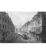 FRANCE Abbeville Rue des Lingers or La Chaine - 1821 Engraving Print Cpt... - $19.80