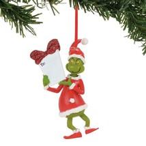 Dept 56 Grinch Dr Seuss Grinch Personalizable Christmas Ornament - NEW - $19.95