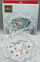"Vintage Mikasa Holiday Landscape Bon Bon Plate Dish Server 9.5"" with Box - $25.99"