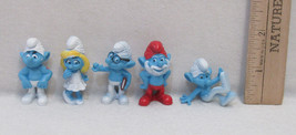 5 Smurf Figure Collectibles Party Favors Toy Figures Cake Topper - $9.89