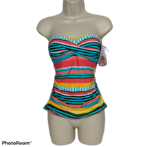 NWT Anne Cole Signature Tankini Swimsuit Top Size XS Padded Multicolor S... - $29.70