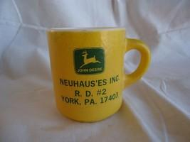 Vintage 1970s RARE JOHN DEERE Tractor Dealership Glass Mug Neuhau'es Yor... - $50.00