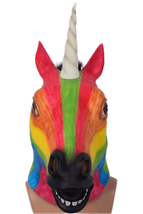 Xcoser Masquerade Mask Rainbow Unicorn Mask Mardi Gras Halloween Party Mask - $39.48 CAD