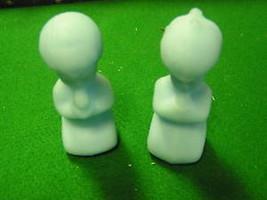 Fenton White Satin Figurines Praying Girl And BOY.....SALE--FREE Postage Usa - $25.74