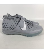 Nike Force Zoom Trout 6 Turf Baseball Shoes Men's Size 14 Gray AT3463 002 - $84.15