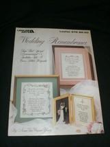"""Wedding Remembrance"" Leisure Arts Leaflet 576 Cross Stitch Keepsake 1987 New - $6.99"