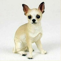 CHIHUAHUA  DOG Figurine Statue Hand Painted Resin Gift Pet Lovers Tan White - $19.99