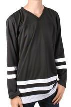 Dope Couture Hommes Basique Noir et Blanc Manches Longues Hockey Jersey Nwt
