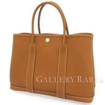 HERMES Garden Party TPM Negonda Leather Gold Tote Bag France 2018 #C Aut... - $4,347.80
