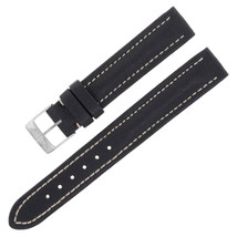 Breitling X121 15-14mm Genuine Leather Black Ladies Watch Band w. Buckle - $149.00