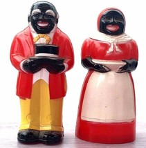 "Black Americana Aunt Jemima & Uncle Mose Salt & Pepper Shakers 3.5"" Plas... - $39.00"
