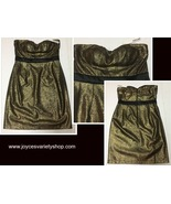 Minuet Gold & Black Halter Mini Dress SZ M - $19.99