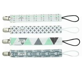 4  Pacifier Clips -Neutral - Boy Girl Baby Modern Designs -Arrows Triang... - $10.67