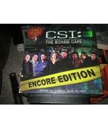 CSI: Crime Scene Investigation The Board Game ENCORE EDITION - $15.83