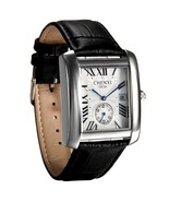 Mens Causal Vintage Roman Numeral Analog Black Leather Strap Watch Calendar - $49.99