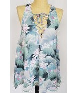 Show Me Your Mumu Floral Tunic Small Rancho Mirage Sleeveless Top Green ... - $89.09