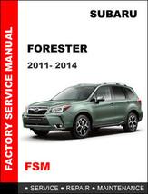 SUBARU FORESTER 2011 2012 2013 2014 FACTORY OEM SERVICE REPAIR WORKSHOP ... - $14.95